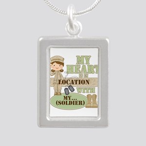 Heart With Soldier Silver Portrait Necklace