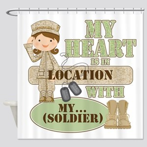 Heart With Soldier Shower Curtain