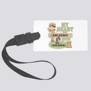 Heart With Soldier Large Luggage Tag