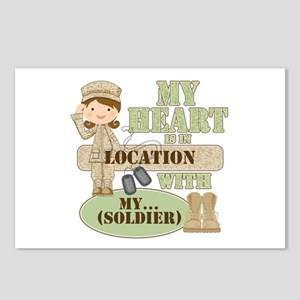 Heart With Soldier Postcards (Package of 8)