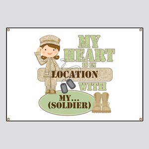 Heart With Soldier Banner