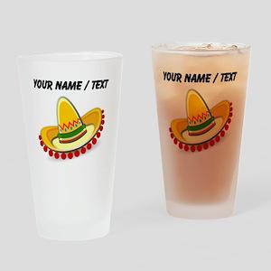 Custom Sombrero Drinking Glass