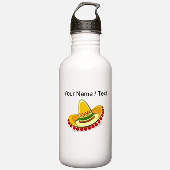 Custom Sombrero Water Bottle