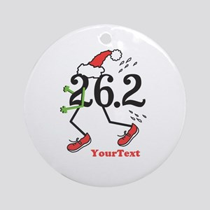 Customize Holiday 26.2 Marathon Ornament (Round)
