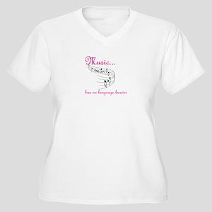 Language Barrier Women's Plus Size V-Neck T-Shirt