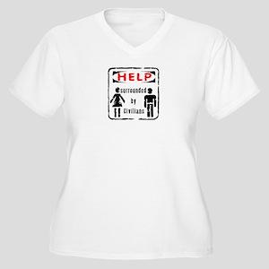 Civilians Women's Plus Size V-Neck T-Shirt