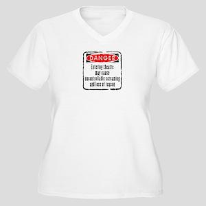 DANGER! Women's Plus Size V-Neck T-Shirt