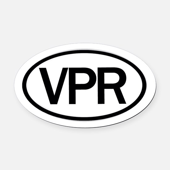 Vaper Euro Sticker Oval Car Magnet