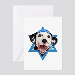Hanukkah Star of David - Dalmatian Greeting Card