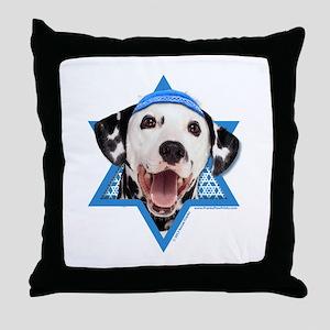Hanukkah Star of David - Dalmatian Throw Pillow