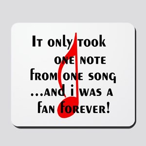 One Note Mousepad