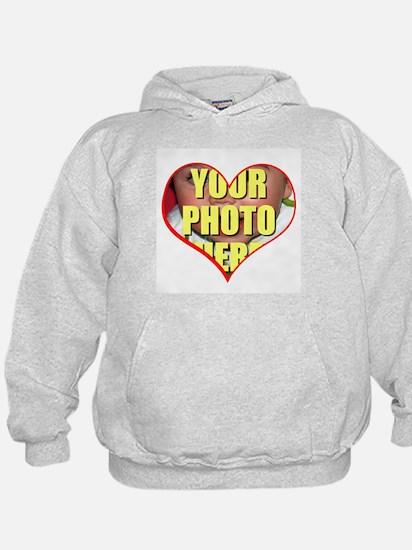 Custom Heart Photo Hoodie