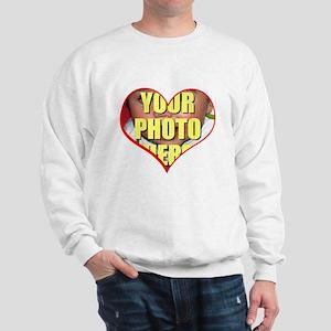 Custom Heart Photo Sweatshirt