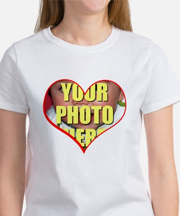 Custom Heart Photo T-Shirt