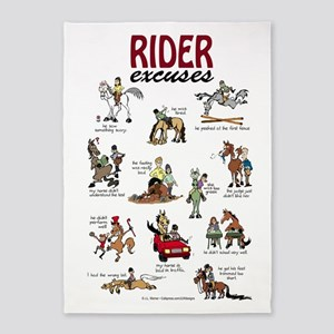 Rider Excuses 5'X7'area Rug