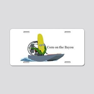 Corn On The Bayou Aluminum License Plate