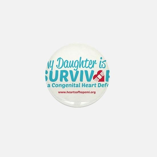 CHD Survivor - Daughter Mini Button