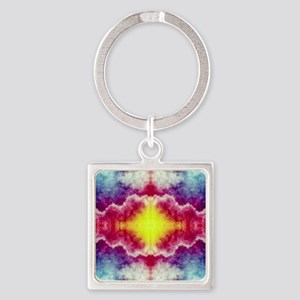 Groovy Colors Square Keychain