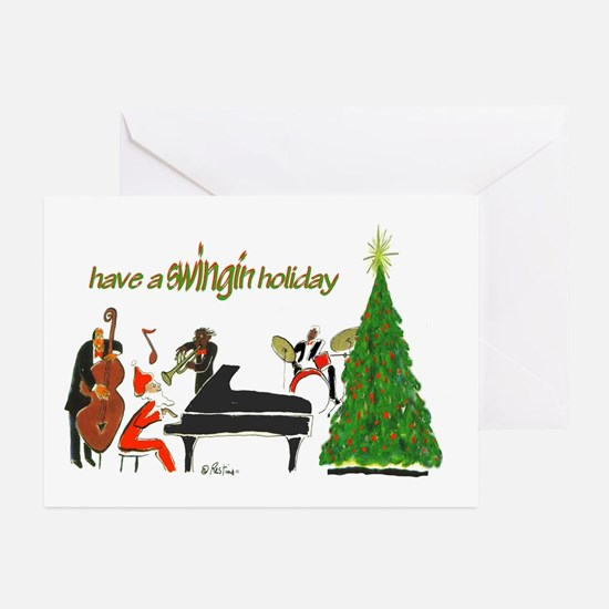 Have A Swingin Holiday Card (pk Of Greeting Cards