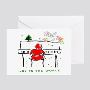 JOY TO WORLD PianoSanta Greeting Cards(Pk of 20)
