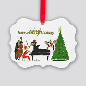Have A Swingin Holiday Picture Ornament