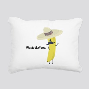 Hasta Banana Rectangular Canvas Pillow