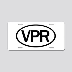 Vaper Euro Oval Sticker Aluminum License Plate