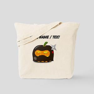 Custom Ninja Jackolantern Tote Bag