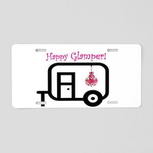 Happy Glamper! Aluminum License Plate