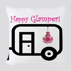 Happy Glamper! Woven Throw Pillow