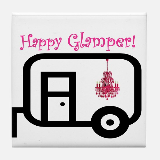 Happy Glamper! Tile Coaster