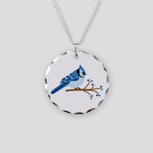 Christmas Blue Jays Necklace