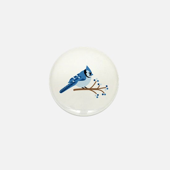 Christmas Blue Jays Mini Button