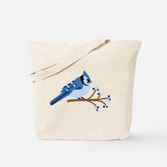 Christmas Blue Jays Tote Bag