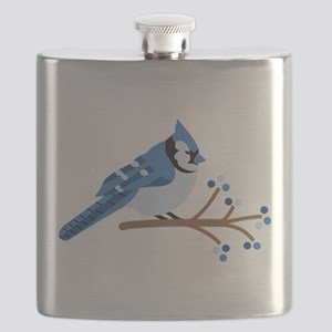 Christmas Blue Jays Flask
