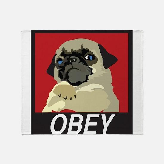 Obey Pug Throw Blanket