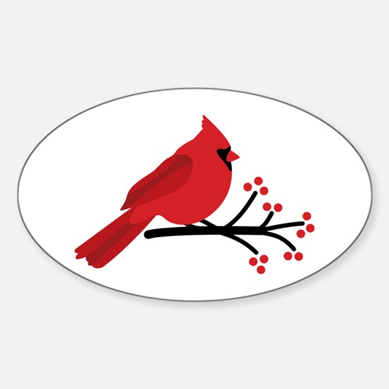 Christmas Cardinals Decal