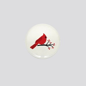 Christmas Cardinals Mini Button