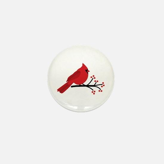 Christmas Cardinals Mini Button