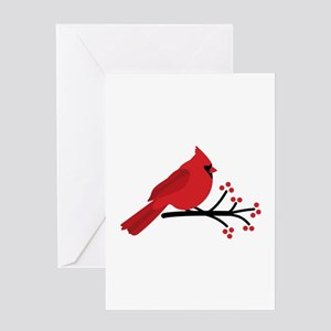 Christmas Cardinals Greeting Cards