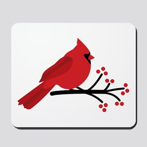 Christmas Cardinals Mousepad