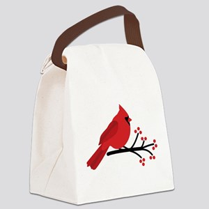 Christmas Cardinals Canvas Lunch Bag