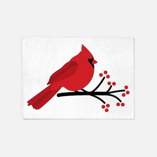 Christmas Cardinals 5'x7'Area Rug