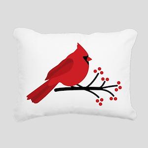 Christmas Cardinals Rectangular Canvas Pillow