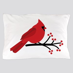 Christmas Cardinals Pillow Case
