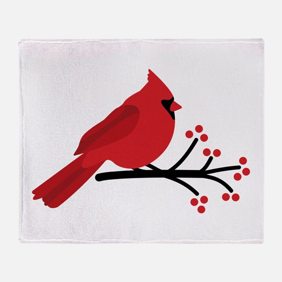 Christmas Cardinals Throw Blanket