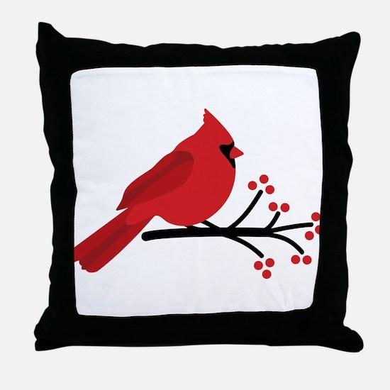 Christmas Cardinals Throw Pillow