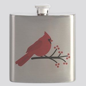 Christmas Cardinals Flask