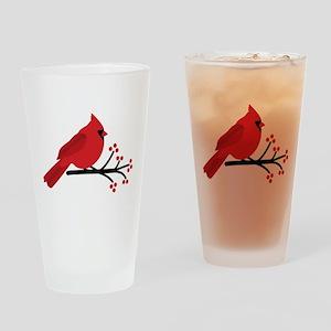 Christmas Cardinals Drinking Glass