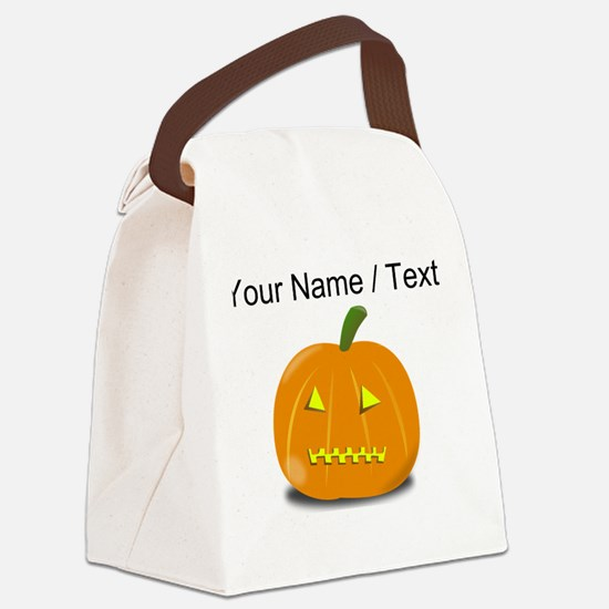 Custom Zipped Jackolantern Canvas Lunch Bag